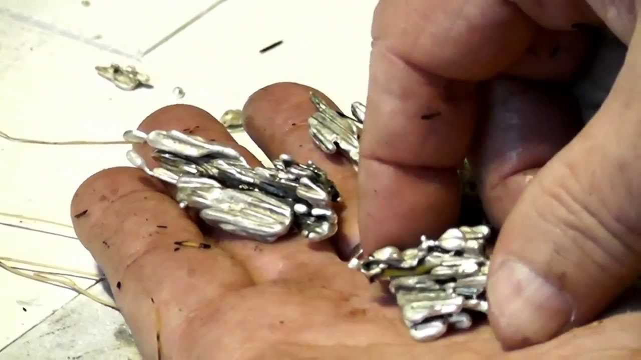 Make silver jewelry how to cast free form silver pendants youtube mozeypictures Images