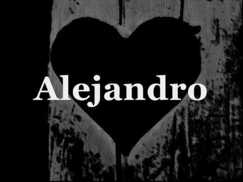 Lady Gaga - Alejandro (Don't call my name) [lyrics]