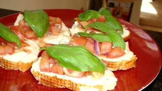Healthy Eating : Fresh Homemade Bruschetta Hd