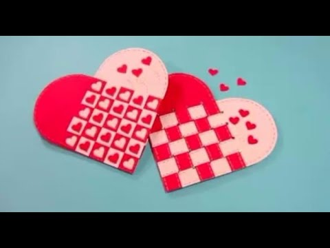 How to Make Twisted Heart Card - Valentine's Day Card - Tutorial .