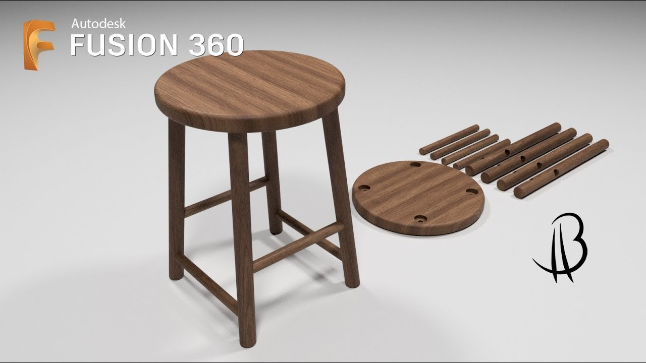 furniture design speedrun 3 - using autodesk fusion 360 - stool