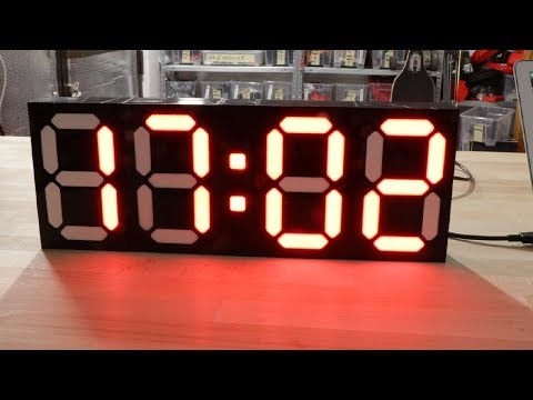 DIY BIG CLOCK - USB POWERED NIST SERVER TIME KEEPING
