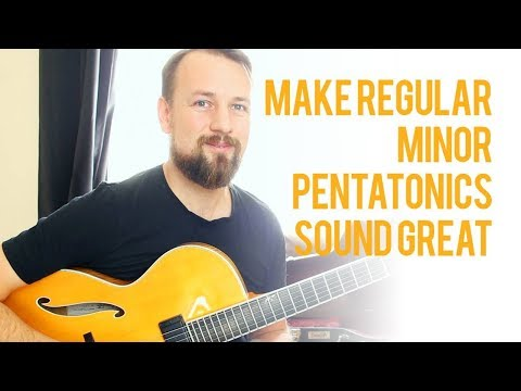 How to make Regular Minor pentatonic sound cool and modern!