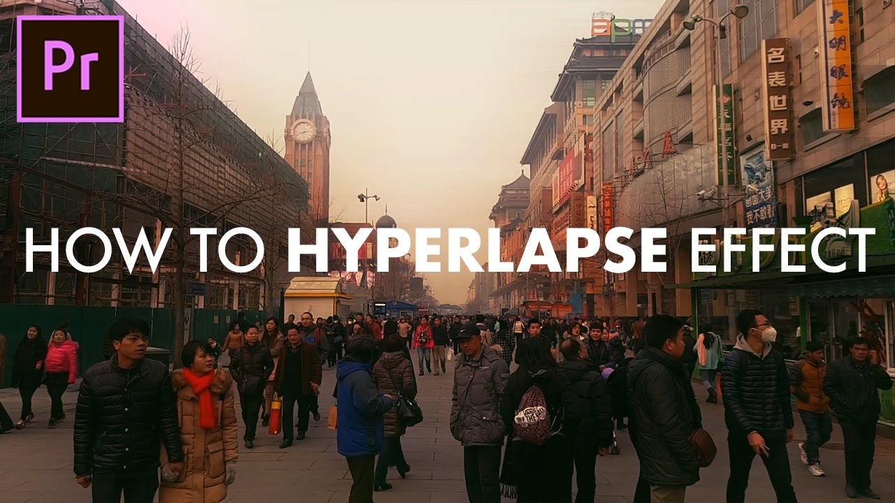 How To Fake Hyperlapse Time Lapse Effect In Adobe Premiere Pro Cc  Tutorial Super Easy