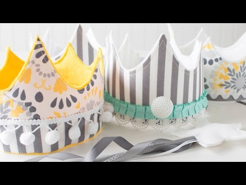 DIY Party and Play Crowns with Cloth and Felt