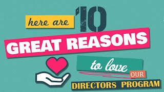 10 Great Reasons to Support our Directors Program this Christmas