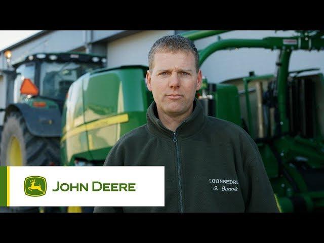 John Deere - Customer experience C441R Wrapping Baler, Bunnik, Netherlands