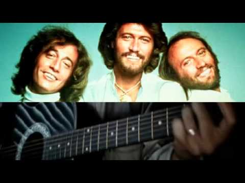 ♪♫ I Started A Joke by The Bee Gees (Easy Acoustic Guitar Visual ...