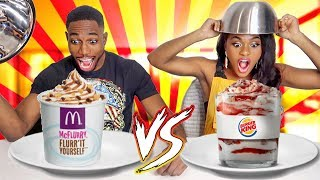 BURGER KING VS MCDONALD'S CHALLENGE ⎪D&B FOREVER