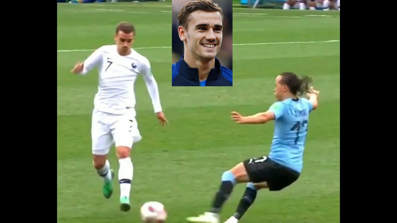 Griezmann skills nutmeg vs Uruguay • France vs Uruguay • Worldcup 2018 HD