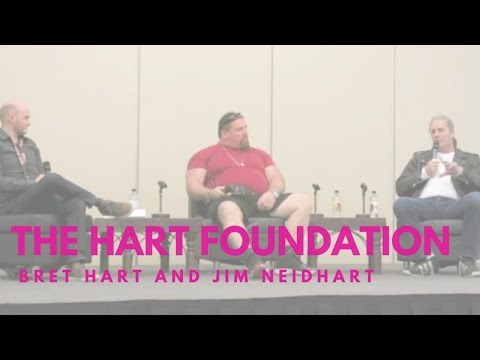 The Hart Foundation panel with Bret Hart and Jim Neidhart at Calgary Expo 2013.