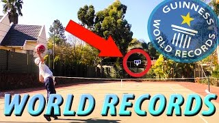 BREAKING BASKETBALL RECORDS - Breaking all of DudePerfects Basketball World Records
