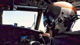 C-2A Greyhound Takeoff/Landing & Cockpit Video • Slow Motion