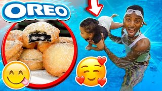 TEACHING LONDYN HOW TO SWIM & WE MADE FRIED OREOS❤️