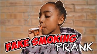 FAKE SMOKING PRANK! dad catches kid smoking Funny Prank Wars