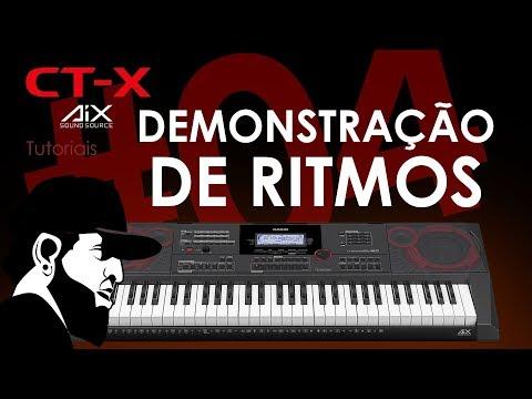 Demonstração De Ritmos   Casio CT-X5000 (CTX5000EP04)