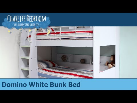 Domino White Bunk Bed - Charlies Bedroom
