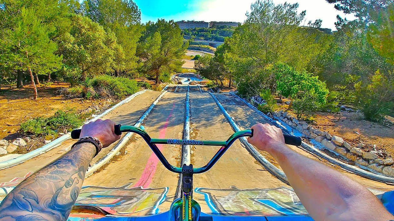 Bmx Riding At Insane Abandoned Waterpark Barcelona Youtube