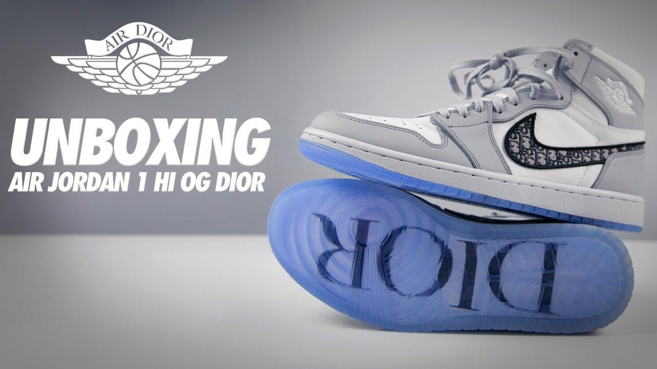 medio litro Rusia Laboratorio  💎¡Air Jordan 1 DIOR primer UNBOXING en LATAM!💎 - YouTube