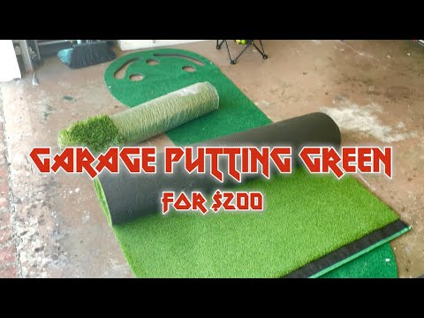 DIY Garage Putting Green For $200