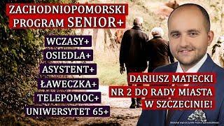 """Dariusz Matecki: program senioralny dla Szczecina. """"Daj babci Internet!"""""""