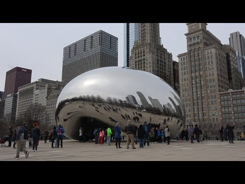 Qhov rooj Huab, The Cloud Gate in Chicago 04 01 2018
