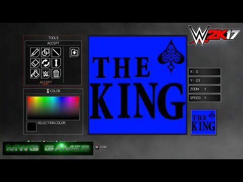 Me Creating Logos in WWE 2K17 on Last Gen Xbox 360 ( Create A Logo ) crowd posters