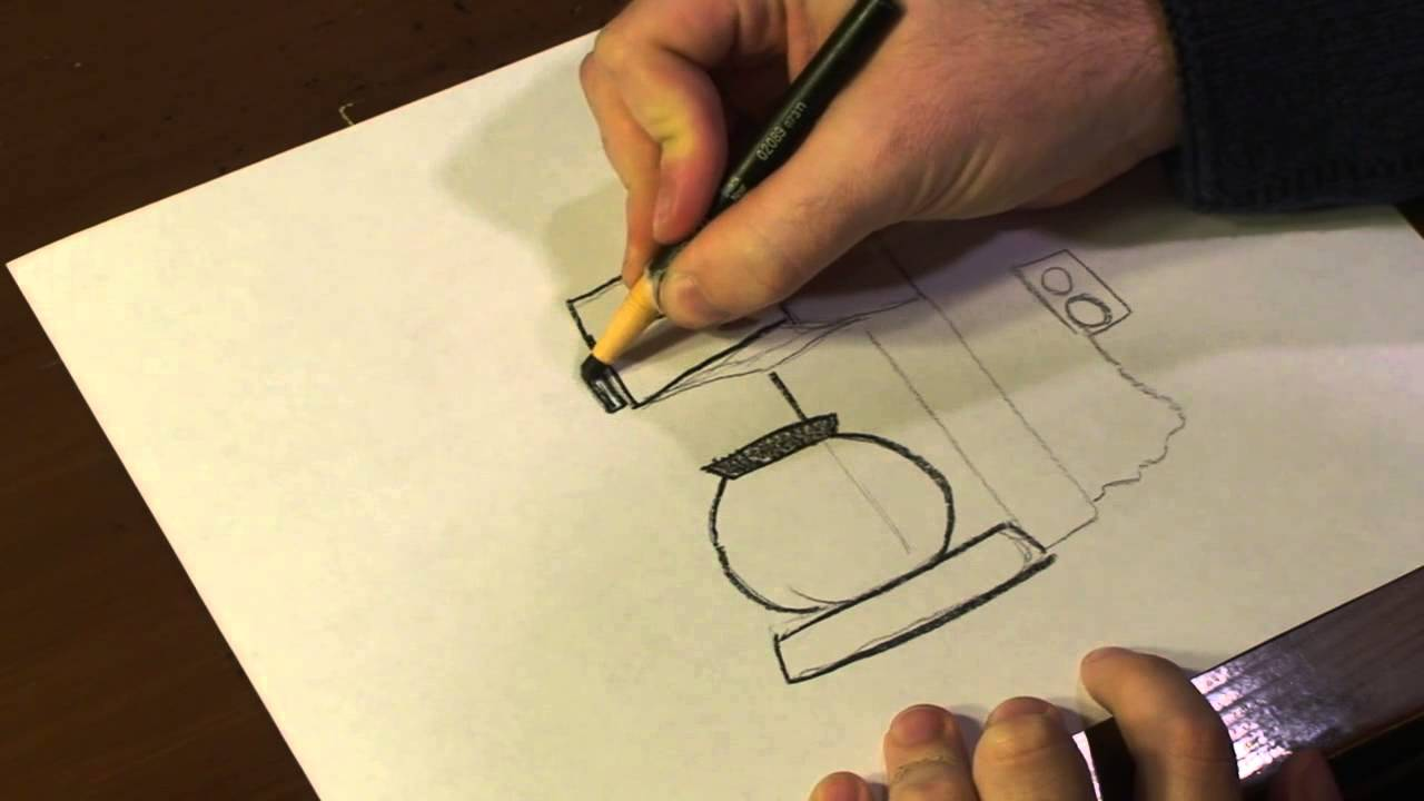 How to Draw a Coffee Maker - YouTube