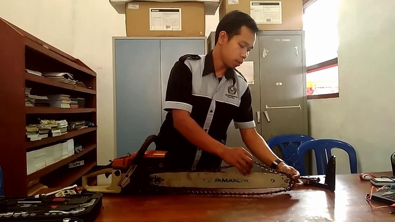 Cara Melepas Kopling Gergaji Mesin Youtube Potong Kayu Chainsaw Stihl Ms 180 16ampquot