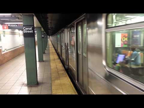 IRT Lexington Avenue Line: R62A & R142/A (4) (5) (6) Trains @ Canal Street