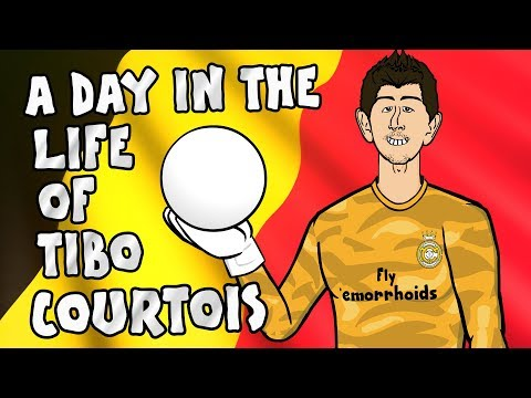 🧤A Day in the Life of Tibo Courtois!🧤 (PSG vs Real Madrid 3-0 Champions League Parody)