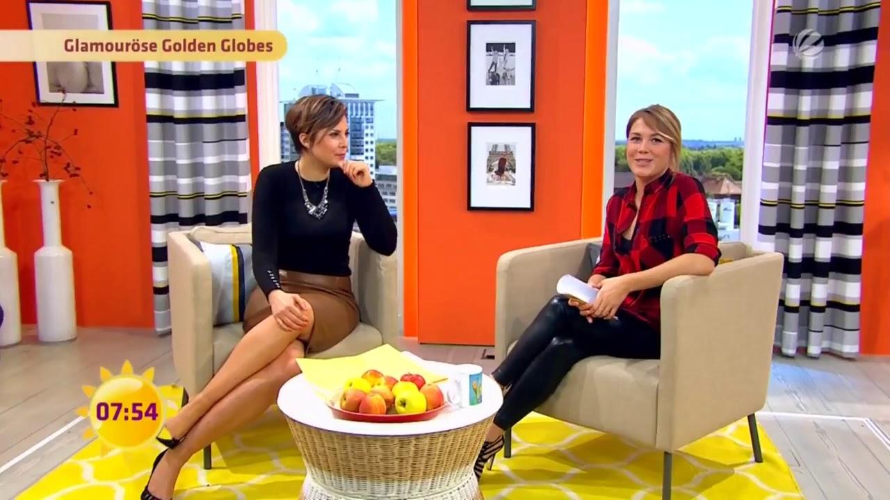 Alina Merkau with Leather Leggings - YouTube