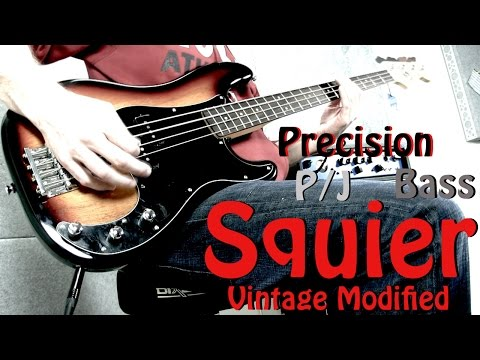 Squier Vintage Modified Precision Bass Review with P/J Pickup configuration