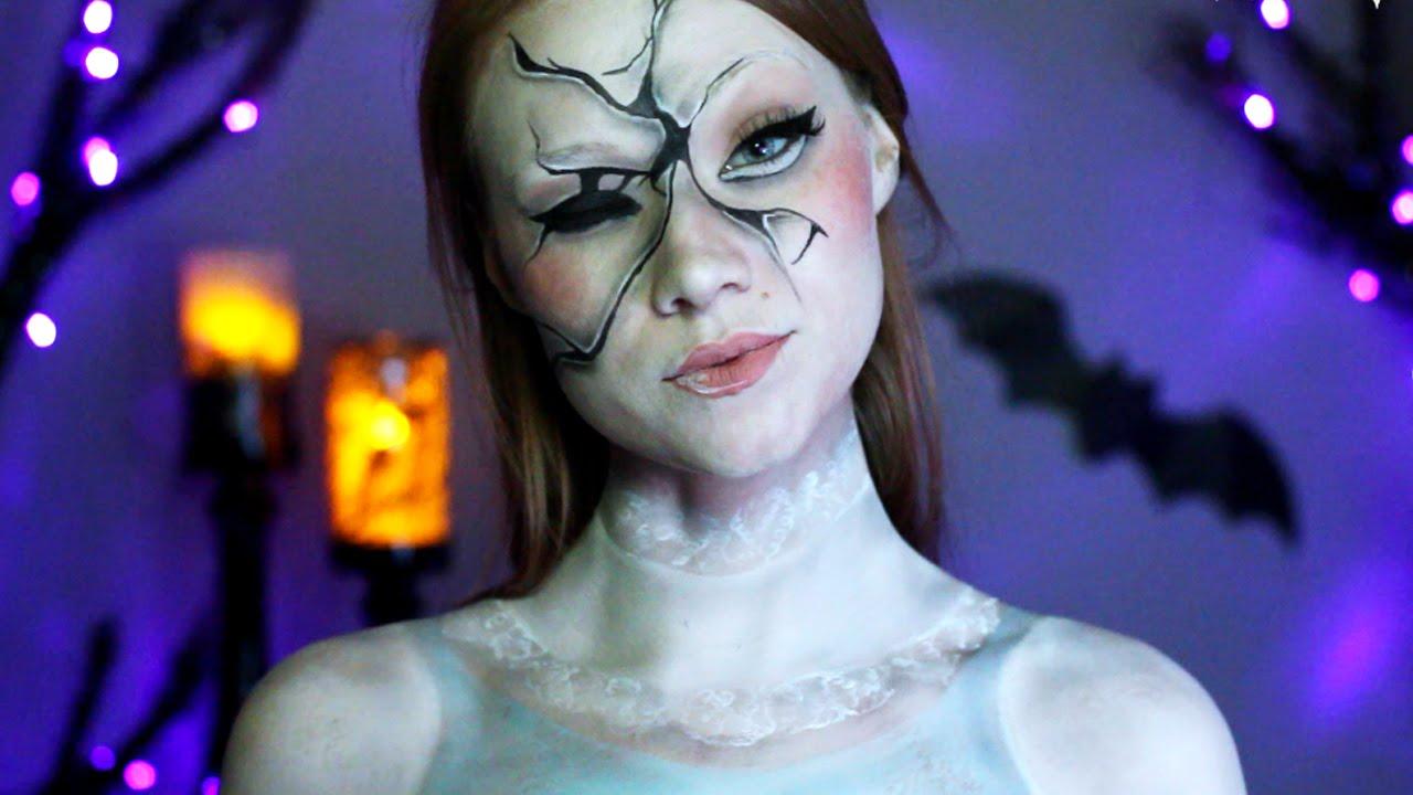 creepy broken doll makeup tutorial youtube. Black Bedroom Furniture Sets. Home Design Ideas