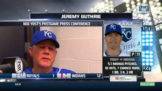 Yost on Royals' 12-1 loss in Cleveland
