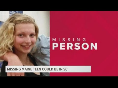 Missing Maine teenager could be in South Carolina