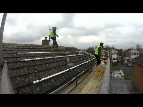 Oxford Solar PV - A Time Lapse Video of a domestic solar panel  installation