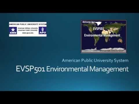 EVSP501 Lecture 1  What is Environmental Management