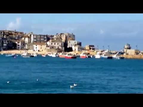 St Ives Video Cornwall UK Seaside Holiday Boats Fishing Beach