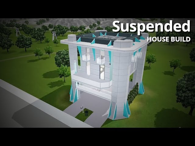 The Sims 3 House Building - Suspended (Futuristic Home)