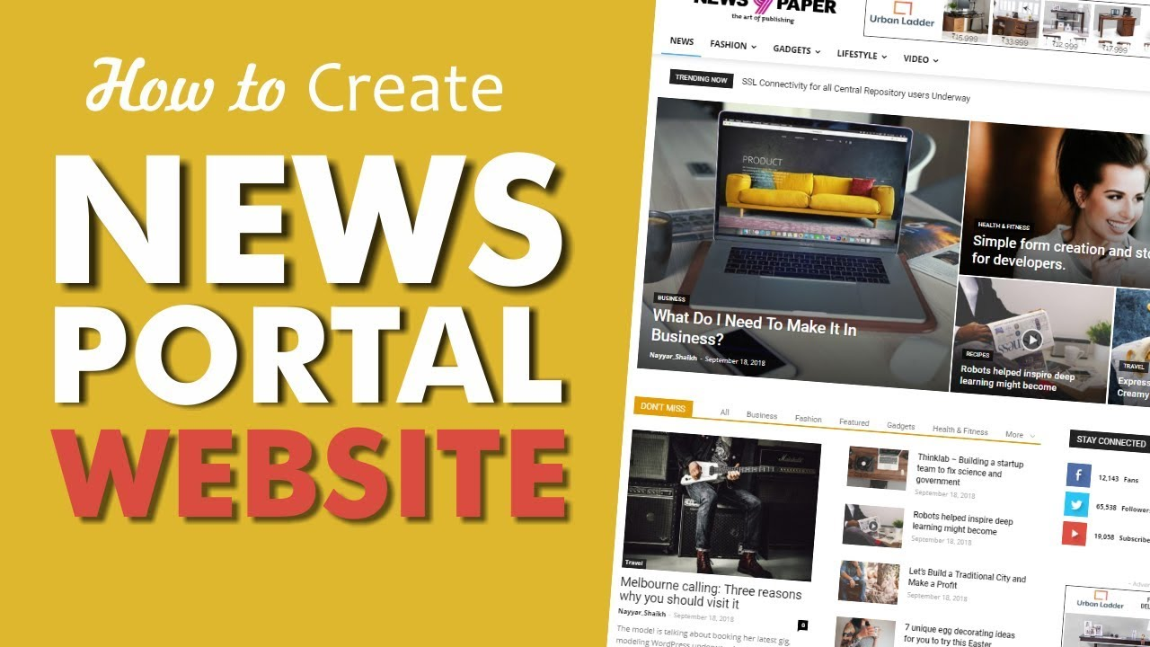 How to Make a News Portal, Magazine & Blog Website with WordPress 2018 – Newspaper Theme 2018