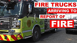 FIRE TRUCKS ARRIVE TO REPORT OF FIRE in Pennsylvania