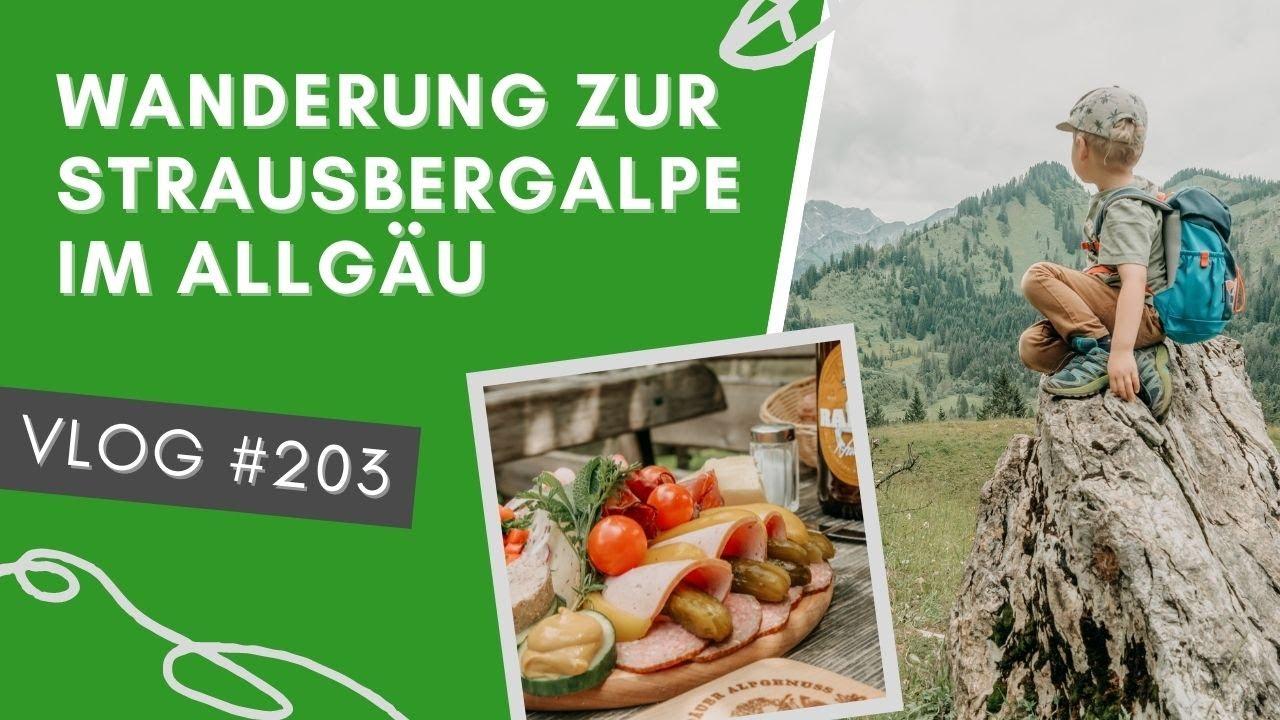 Strausbergalpe – Eine gemütliche Familienwanderung im Allgäu | VLOG #203 | ALLGÄU 🇩🇪