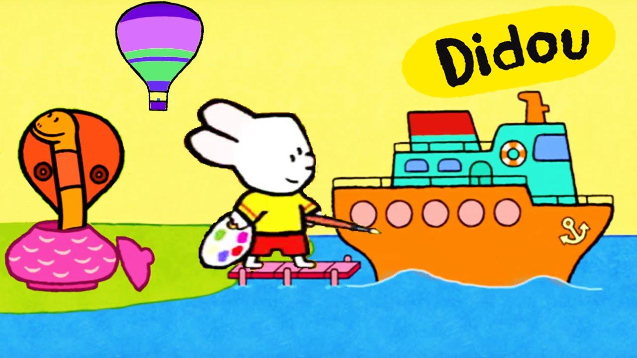 Didou dessine moi une montgolfi re un paquebot et un - Paquebot dessin ...