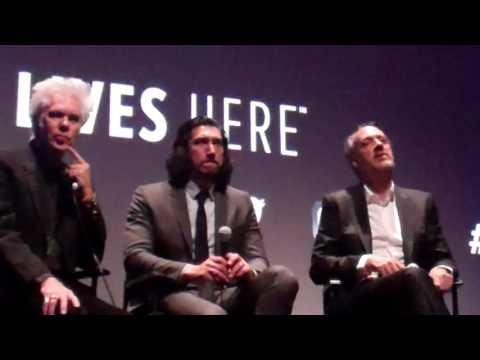NYFF2016  Patterson post screen Q&A Jim Jarmish :Adam Driver with Kent JOnes