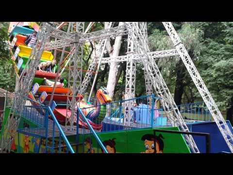 A ride at the amusement park at Cubbon Park.