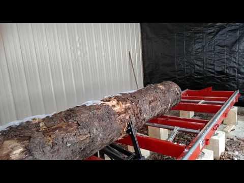 Woodmizer LT-15 Wide Log Turner in Action