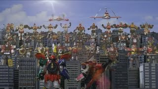Encontro de todos os Megazords - Super Sentai (Power rangers)