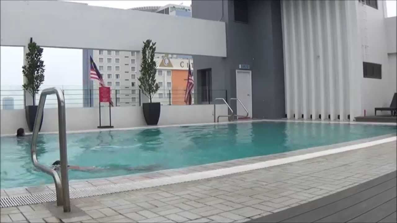 The Roof Top Swimming Pool At The Neo Plus Hotel Penang Youtube