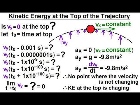 Physics - Mechanics:Work, Energy, and Power Examples (2 of 27) KE at the Top of the Trajectory